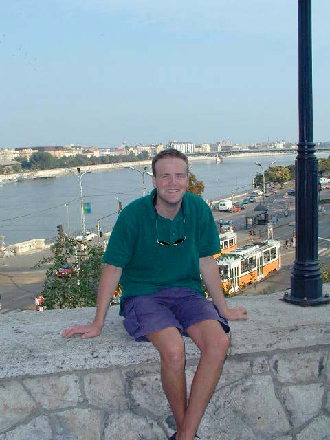 Me with the city of Budapest in the back